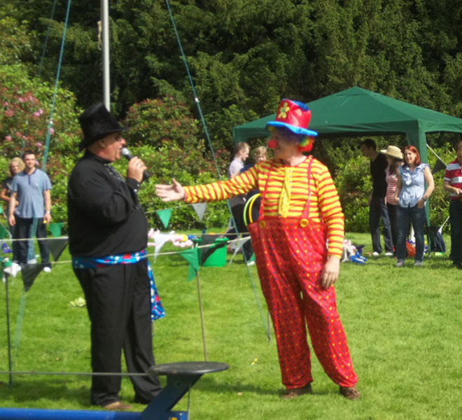 Circus theme team building event at Maftern Hall