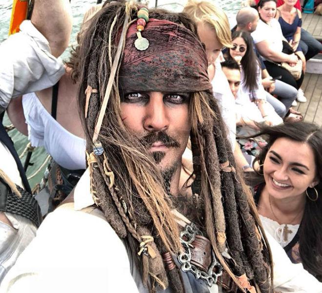 Lookalike Capt. Jack Sparrow