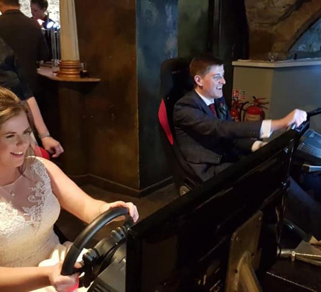 Top gear wedding at Lumley Castle Durham