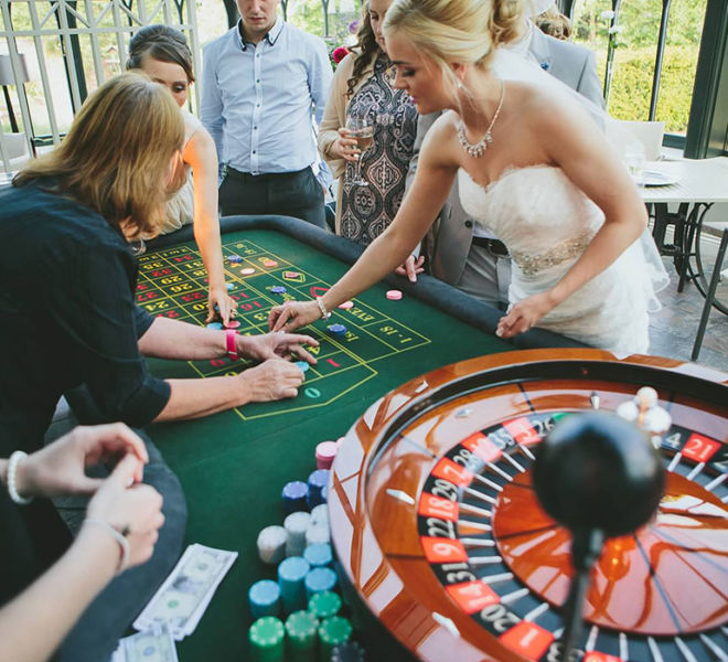 A casino wedding at Gisborough Hall