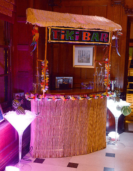 Hawian cocktail bar at Crathorne Hall for an Hawian them party