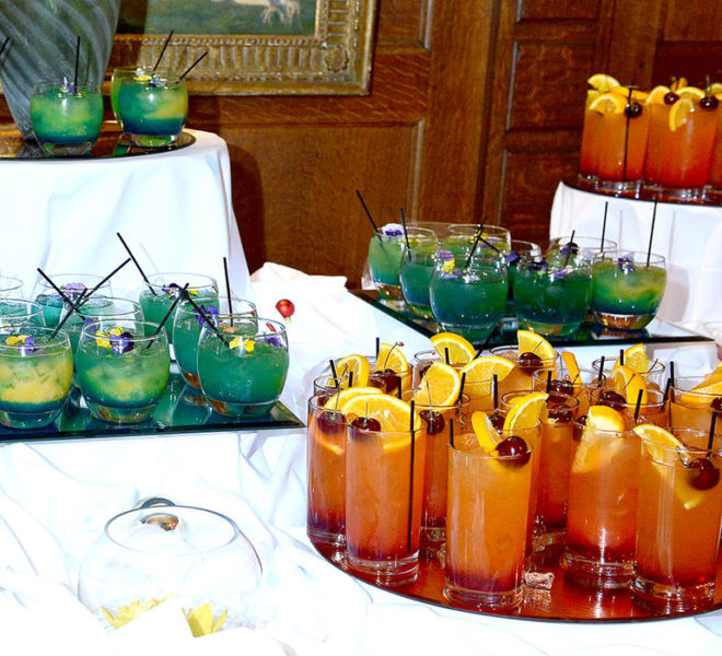 Cocktail reception at a Corporate dinner in North Yorkshire