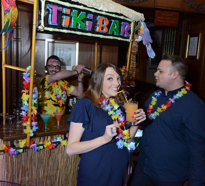 Hawian theme Tiki Bar at Crathorne Hall Yarm