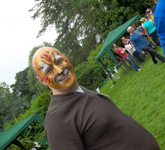 Corporate day circus themed in Northumberland