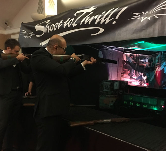 Indoor laser target shooting