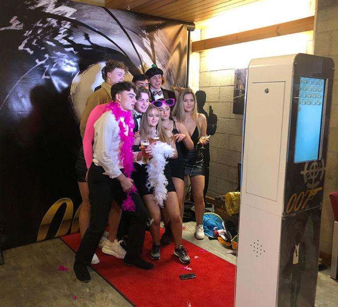 Selfie pod at a school prom in Cumbria