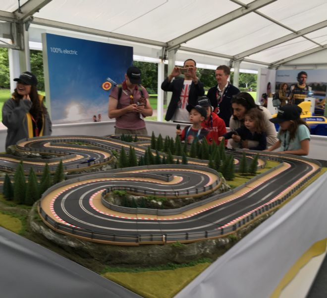 London Exhibition with the 2 lane giant scalextric