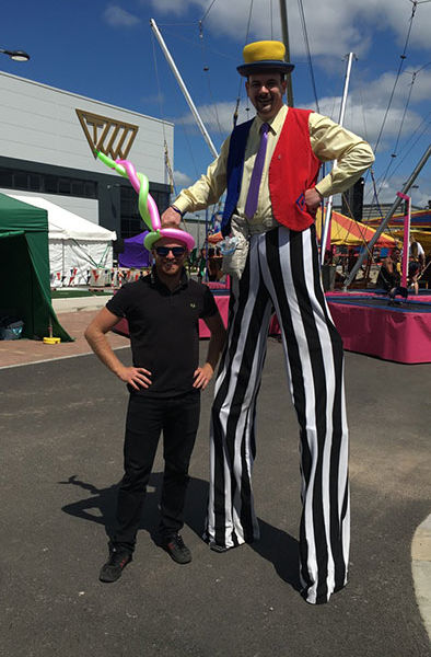 Family fun day in Doncaster with our Stilt Walker