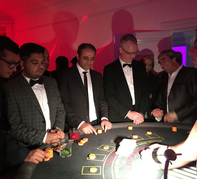 Fun Casino Blackjack Table at a black tie ball