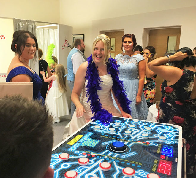 Speed reaction game at a wedding in Middlesbrough