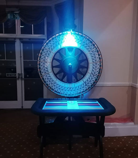 Wheel of fortune for a Christmas event at Solberge Hall Northallerton