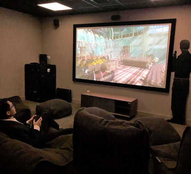 Big screen games at Durham University