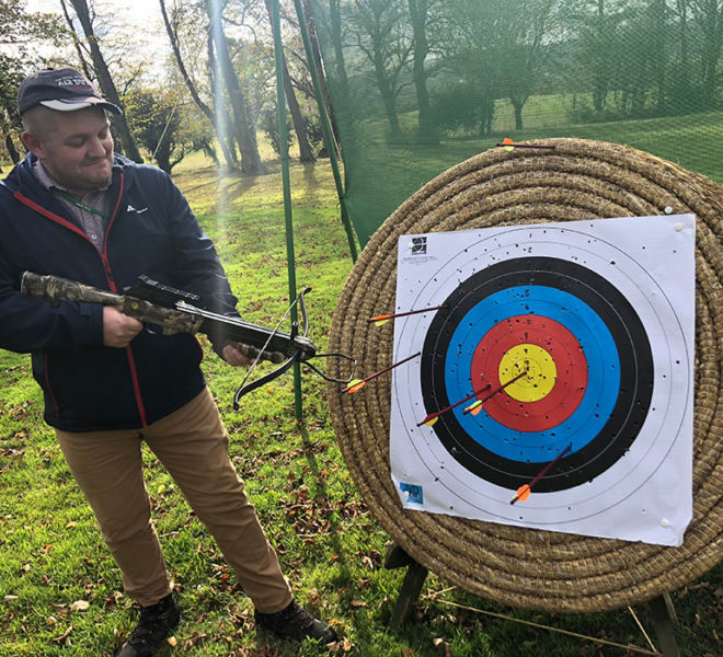 Cross bow shooting at Lumley Castle Co Durham