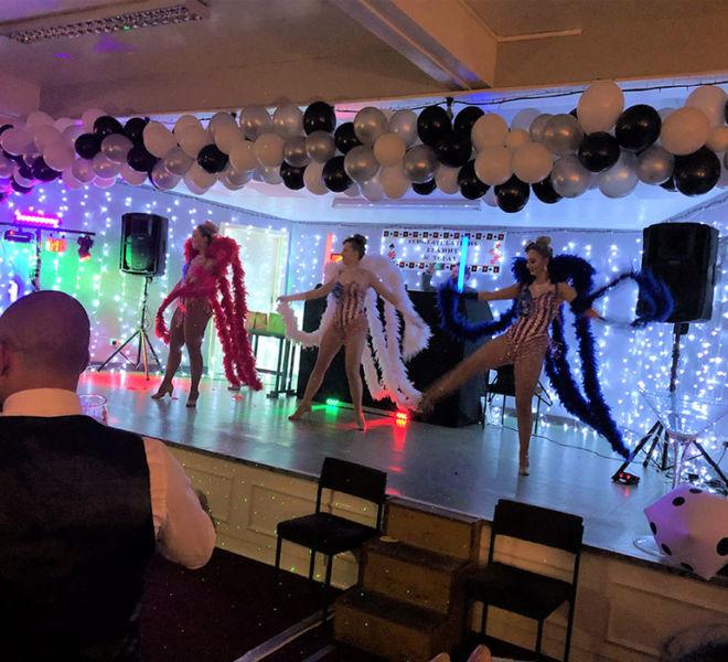 Show girls on Stage in Bradford