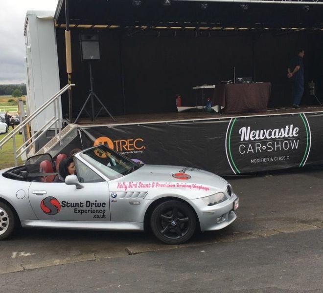 Newcastle car show stunt display