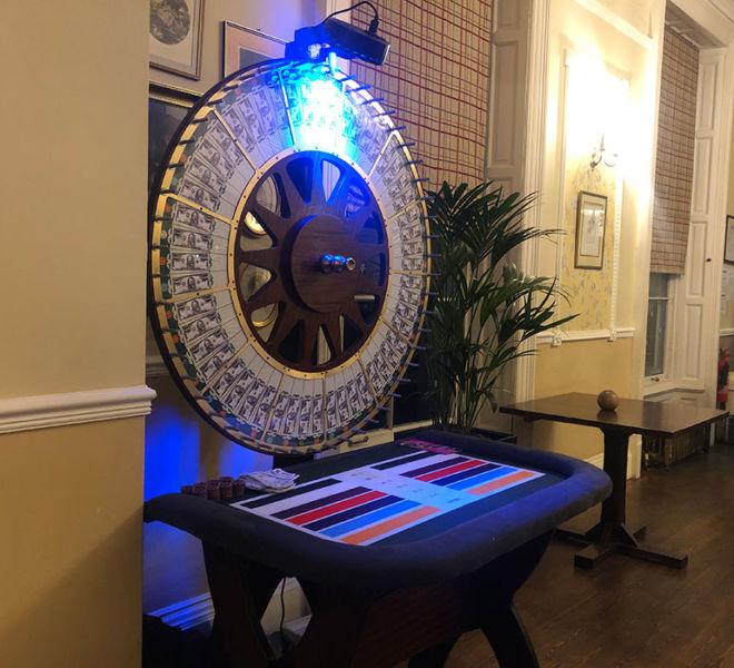 Casino games hire at Beamish Hall
