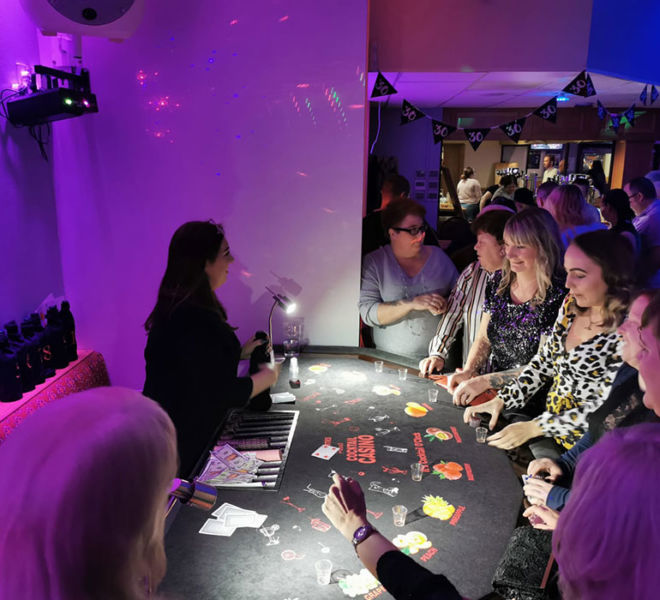 Party entertainment with our cocktail tasting casino table