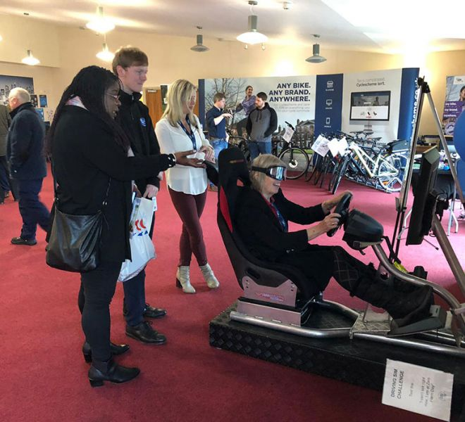 Driver awareness simulator at Larkhill with beer goggles