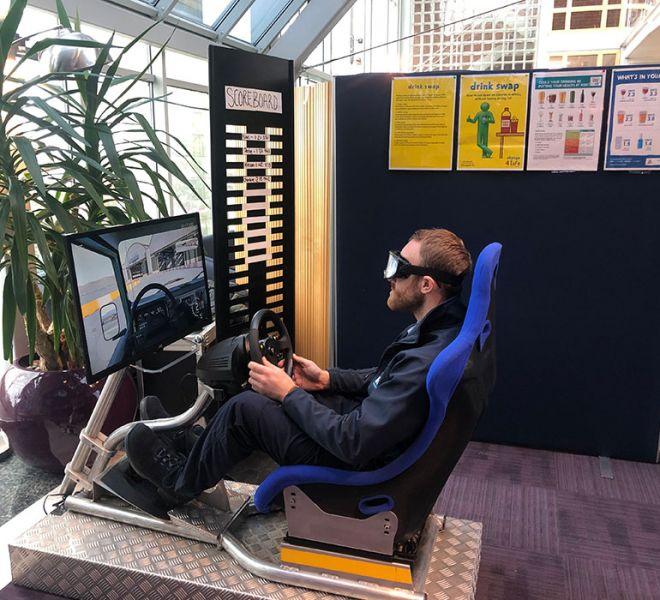 Driver awareness simulator in Tidwell