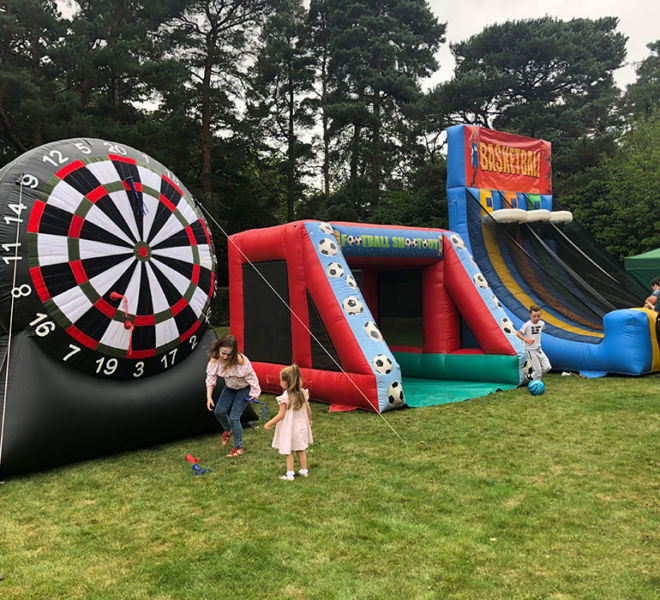 Family funday with our inflatable sports