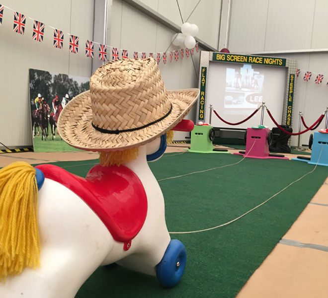 Corporate party in Nottingham with our wind up horses