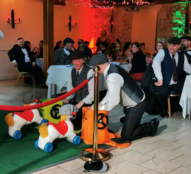 Peaky blinders theme race night at Walworth Castle