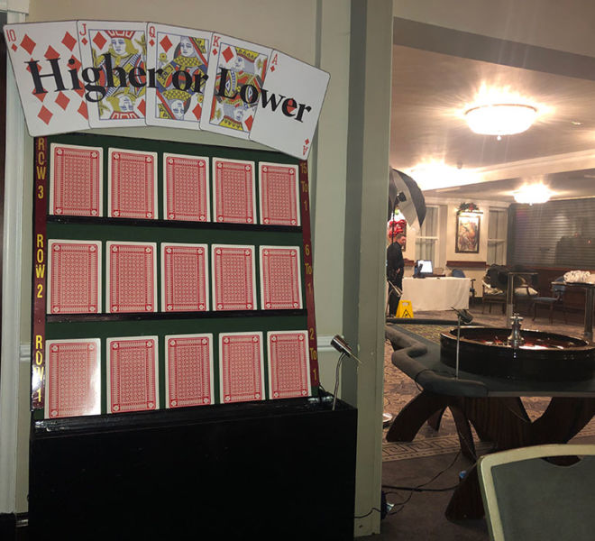 Higher or lower and roulette at Hardwick Hall in Sedgefield