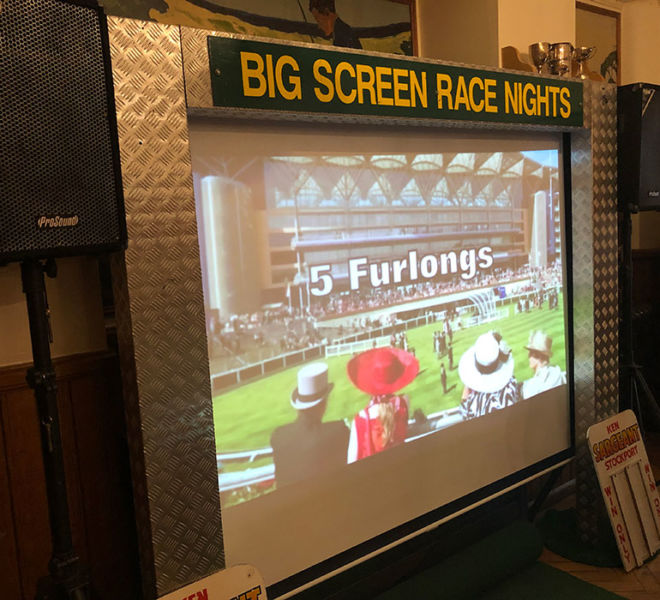 Big screen race night at Brighouse Leeds