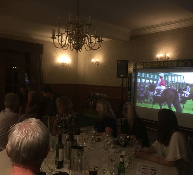Big screen corporate event in Leeds with our race night