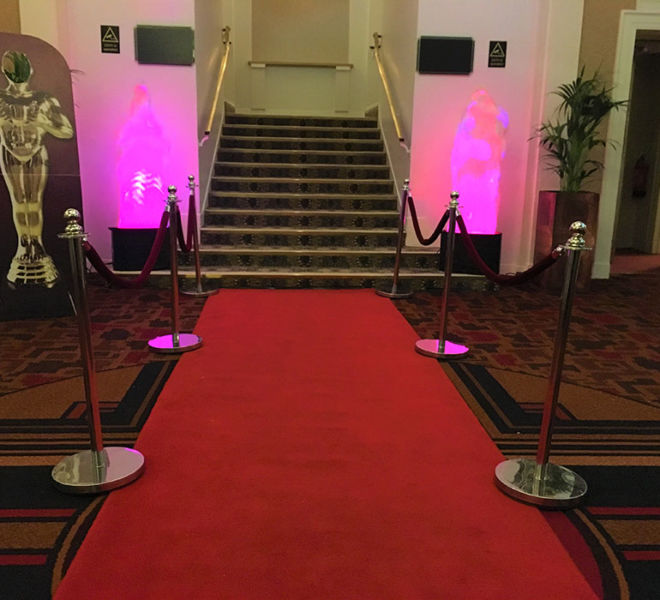 Themed entrance for a night at the Oscars in Leeds