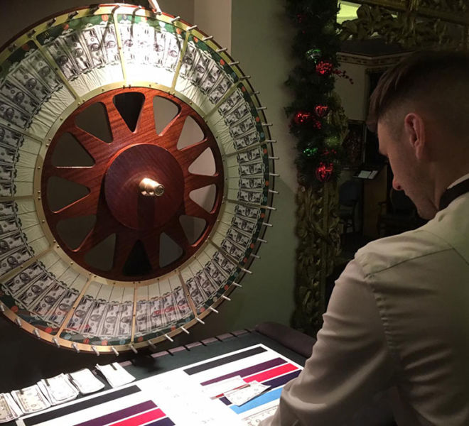 Our wheel of fortune at a Christmas party night