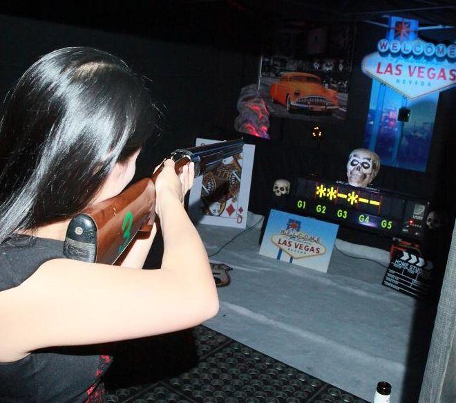 Indoor laser target shooting at Ramside Hall Durham