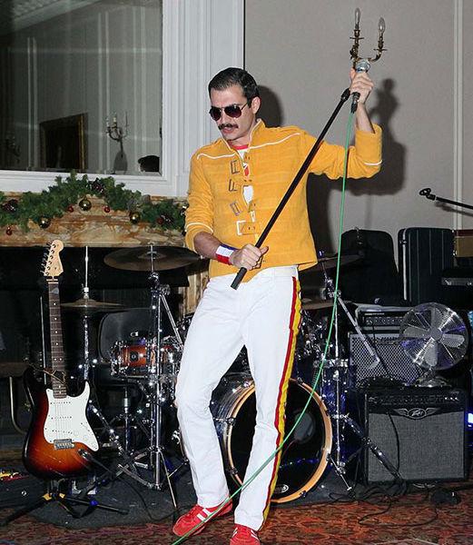 Freddie Mercury look a like at Crathorne Hall Yarm