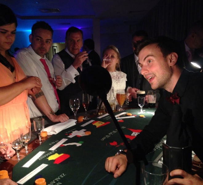Wine Casino fun at the wedding