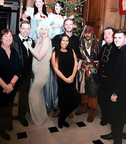 The team at LMS with look a likes at Crathorne Hall