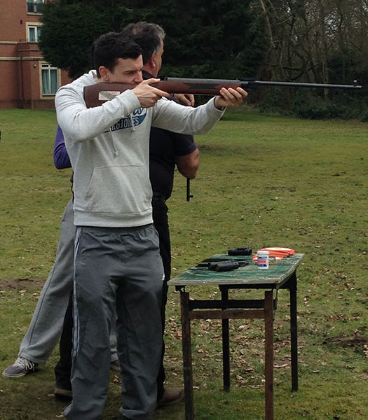 Team building shooting event in London