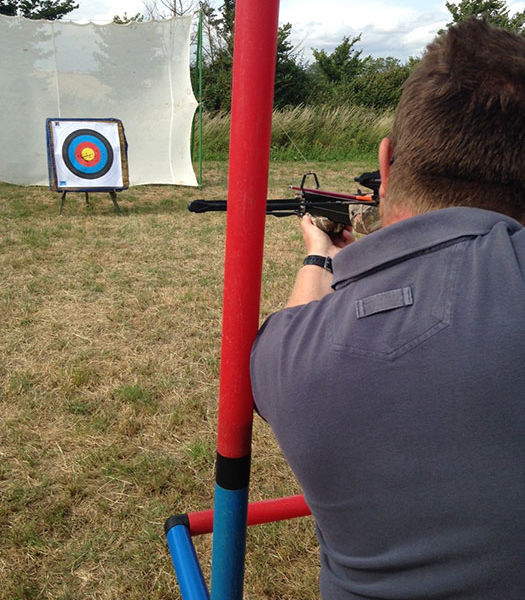 Corporate team away day Archery Hire