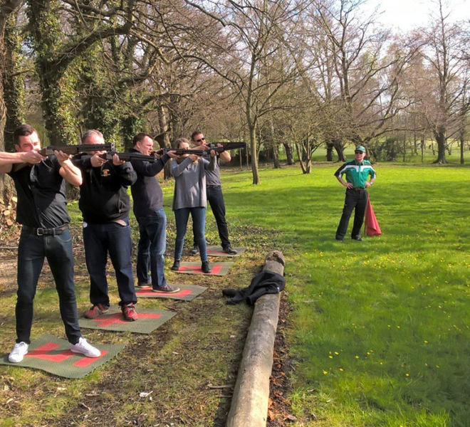 Lumley castle laser clay shoot