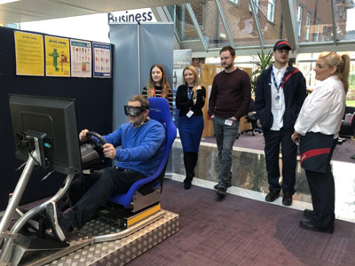 Driver awareness simulator for driver saftey day