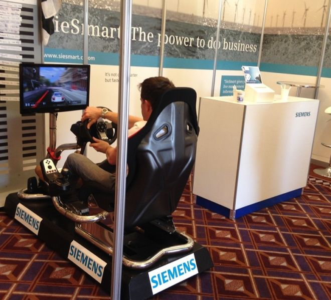 Branded racing simulator for Siemens