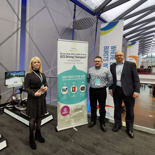 Exhibition stand in Liverpool with Eco Simulators