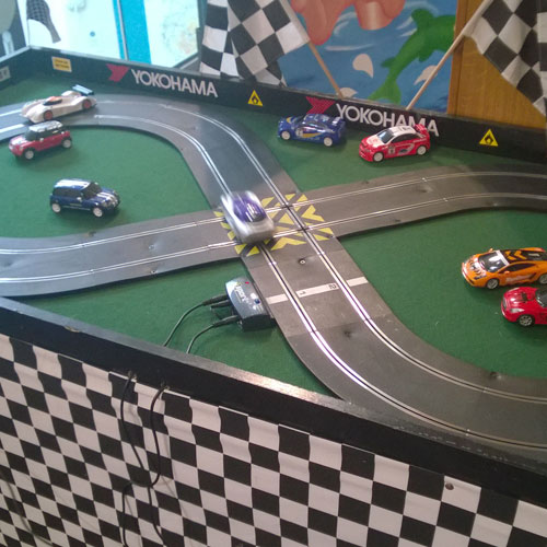 Penrith with the mini scalextric