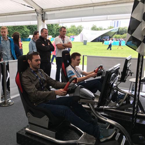 London with the racing simulators