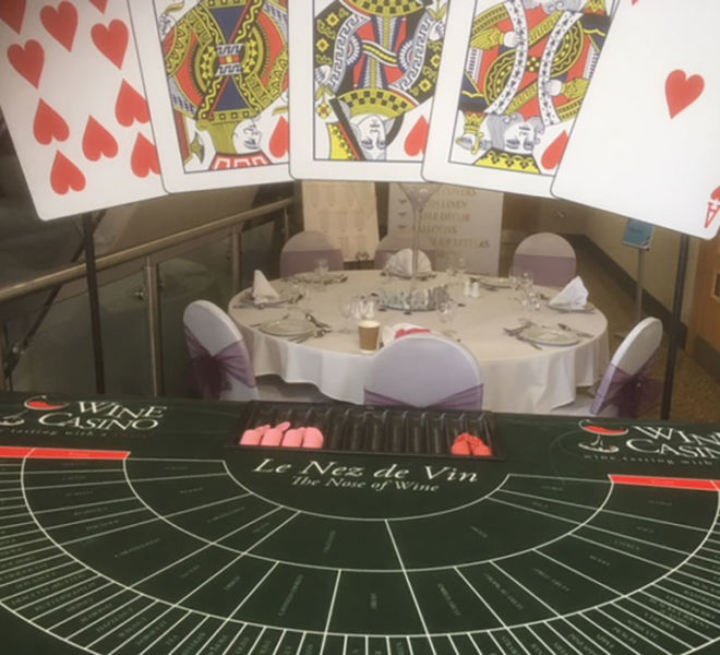 Nose of Wine Casino Table at Darlington Arena