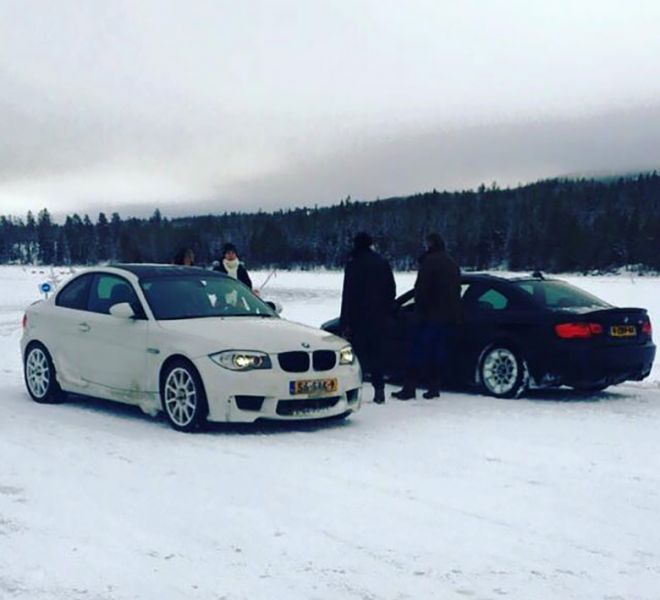 Ice driving with customers in Sweeden using BMW's