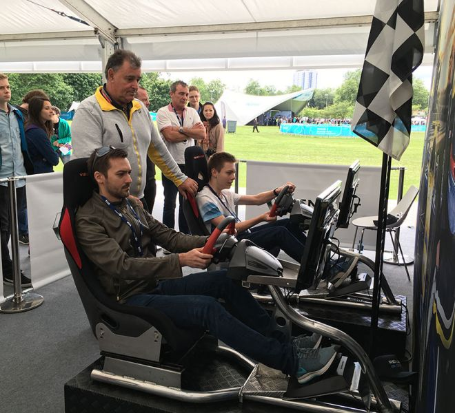Racing Sims with Renault in Battersea Park London