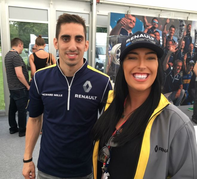 Seb with Kelly on Renault Trade Stand in Paris