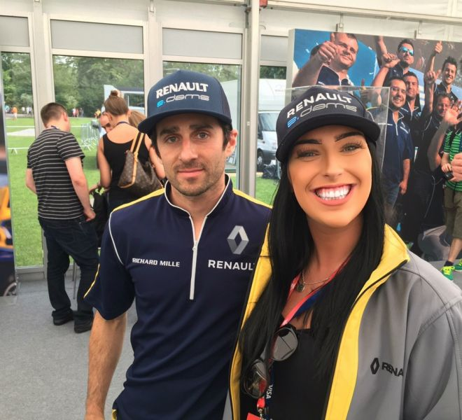 Kelly with Renault E Dams Driver Nico Prost