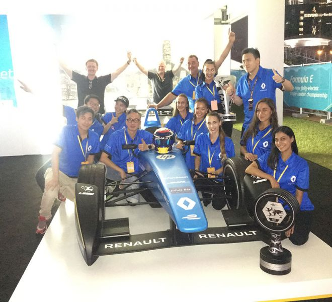 The team in Hong Kong with Renault