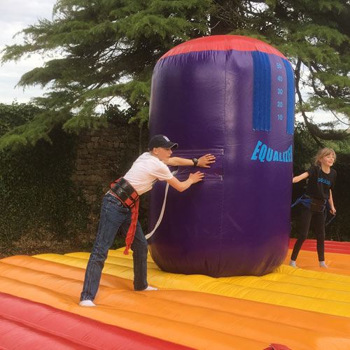 Inflatables on family fun day
